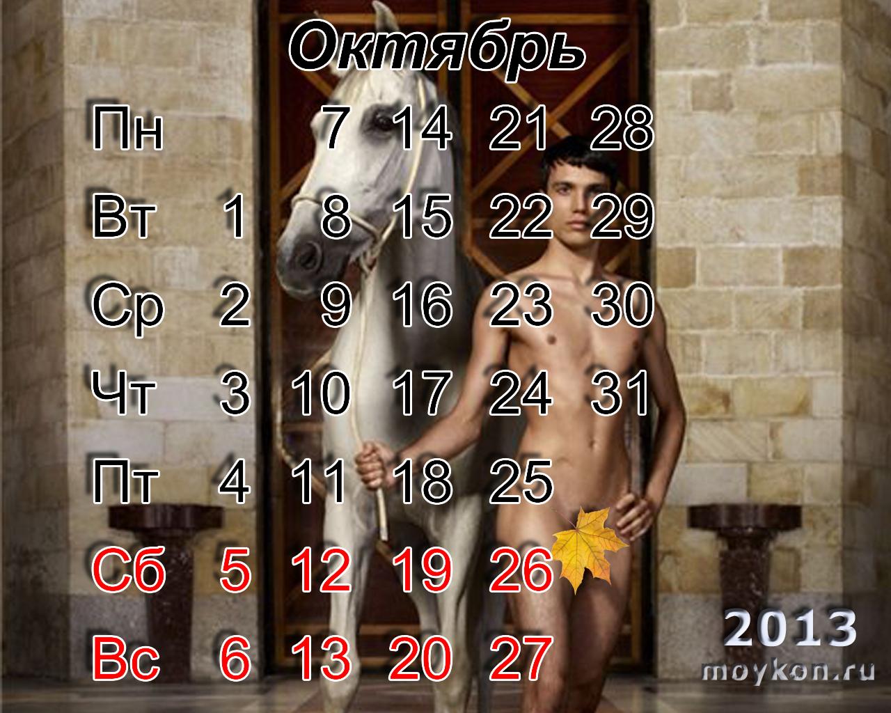 Календари с лошадьми на октябрь 2013
