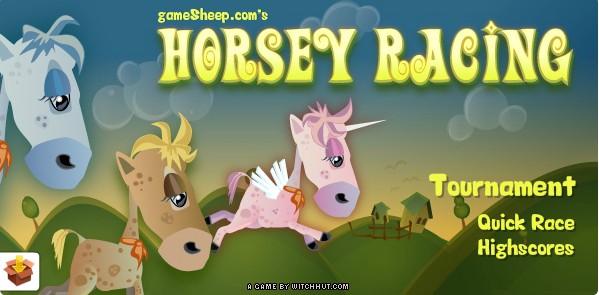 Состязание лошадей. Игра про лошадей