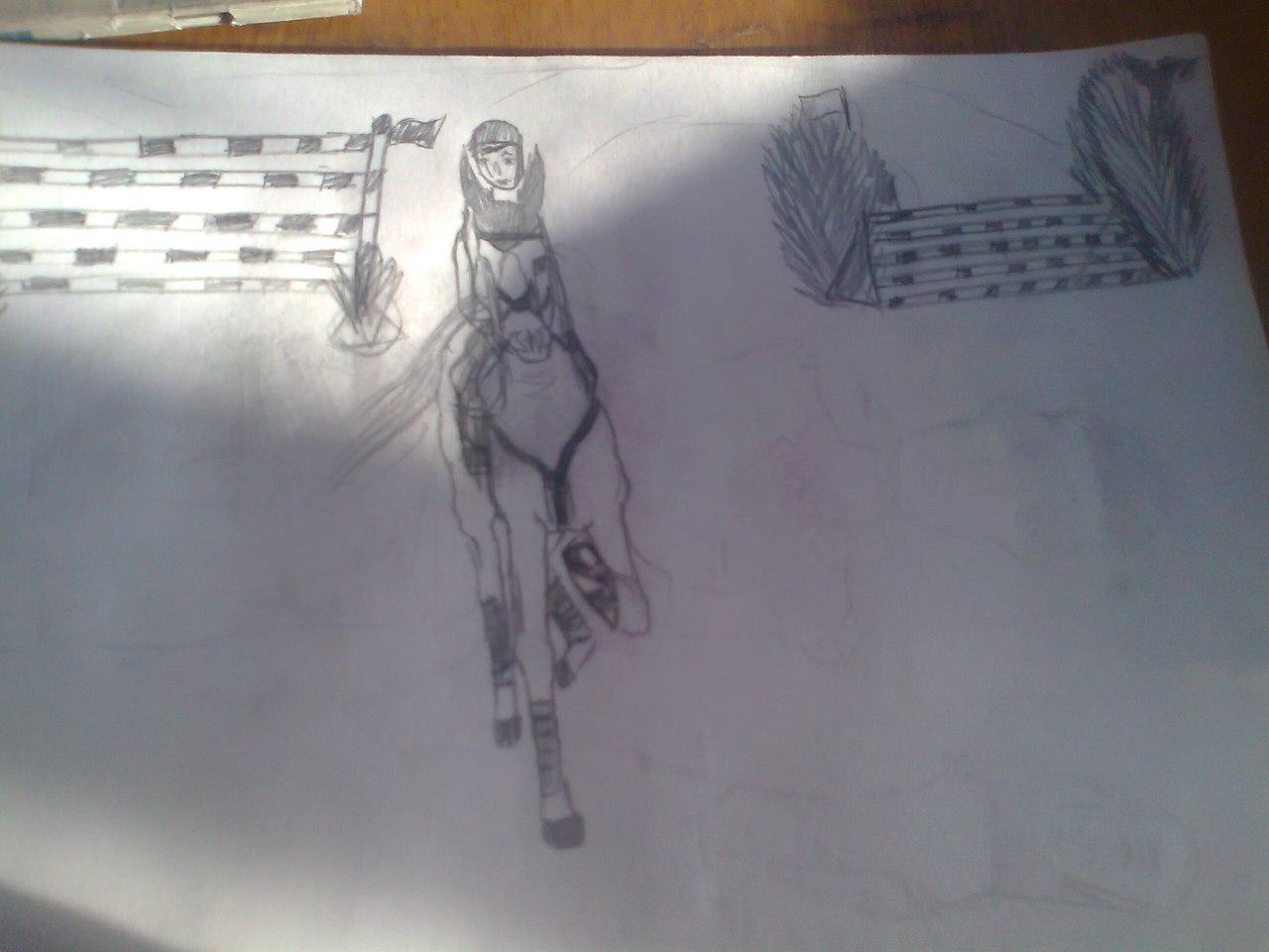 Любительские рисунки лошадей (4)