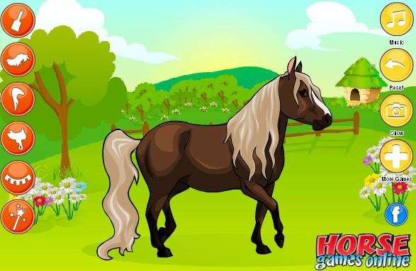Очень красивая лошадка. Игра про лошадей