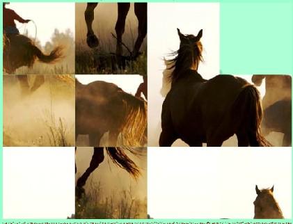 Паззлы лошадей. Игра про лошадей