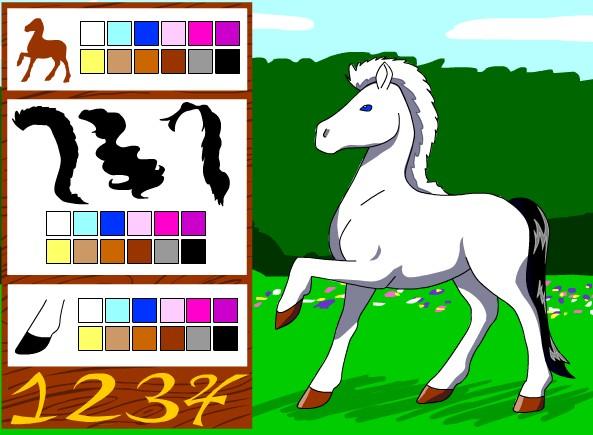 Породистая лошадка. Онлайн игра про лошадей