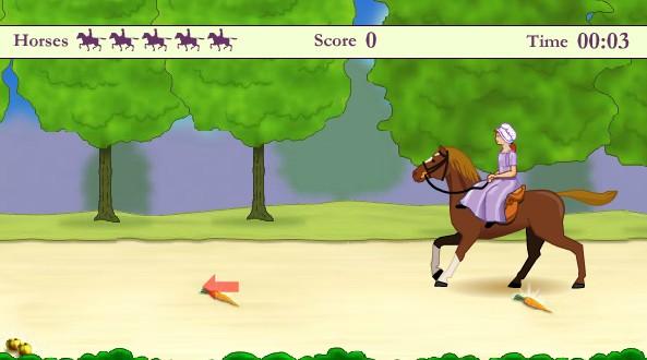 Женский конкур на лошадях. Игра про лошадей