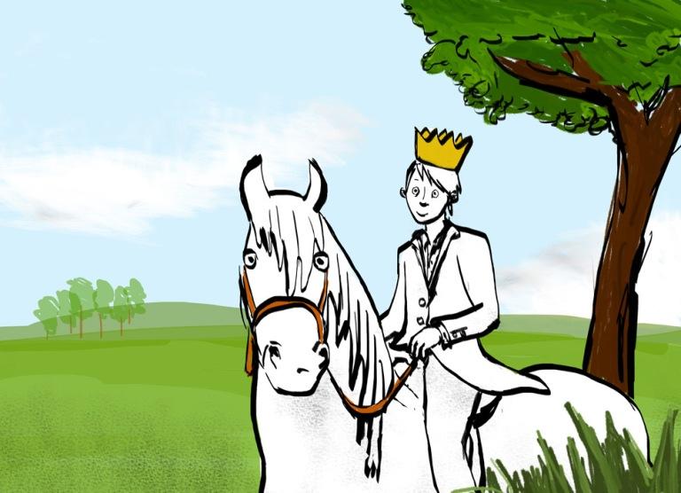 Фото - принц на белом коне