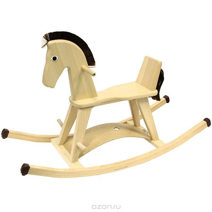 Лошадка-качалка деревянная дорогая