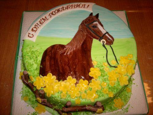 фото торт с лошадью