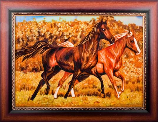 Лошади на картине