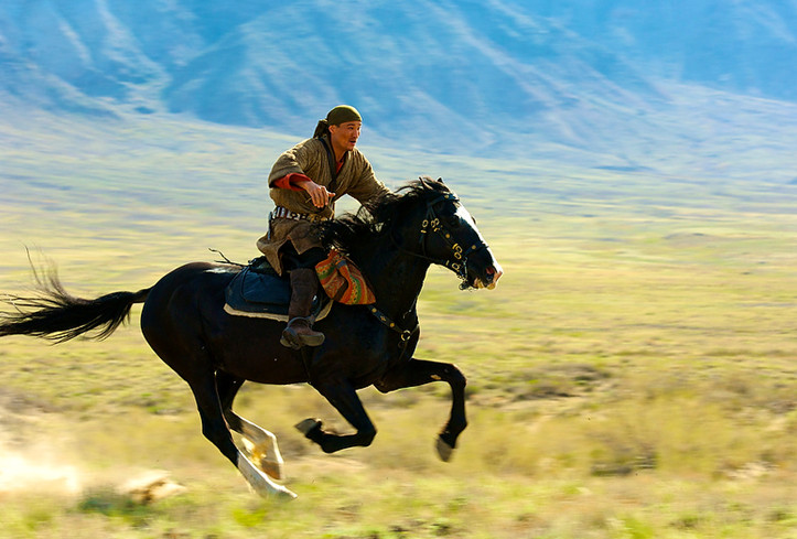 Лошади по-казахски