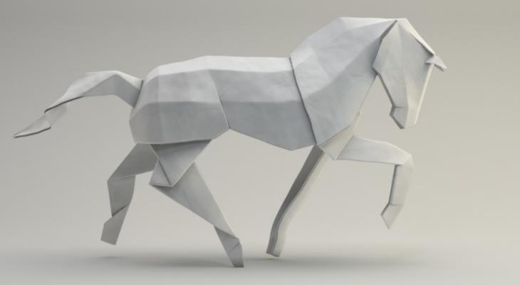 Как сделать лошадь из бумаги?
