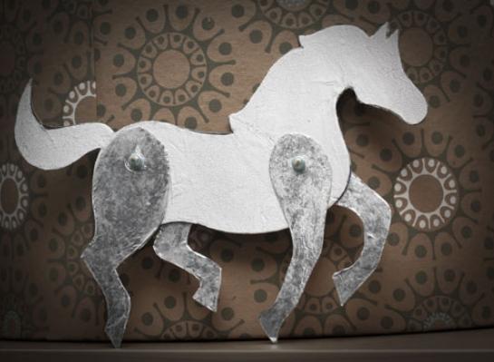 Как сделать лошадь из спичек фото 457